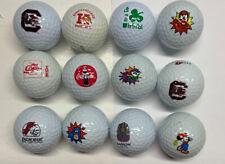 Lot of 12 Novelty Golf Balls Mickey Coke Marvel