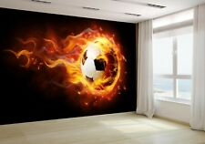 Bright flamy symbol Wallpaper Mural Photo soccer 7068750 premium paper