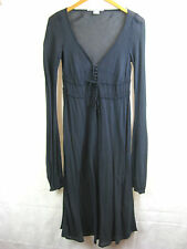Nolita DeNimes Black Cotton Size 8 Designer Over Dress