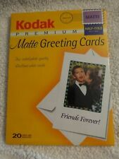Kodak - Premium Matte greeting cards kit - 20 count - New in Cellophane