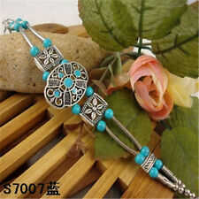 HOT Free shipping New Tibet silver multicolor jade turquoise bead bracelet S75