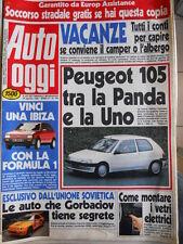 Auto OGGI n°194 1990 Test BMW 730i - Volvo 960 - Ford Scorpio  [Q202]