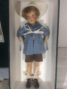 R John Wright Pocket Pooh Series Christopher Robin Doll 2576/3500 Felt 1998 11in