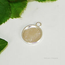 12mm Round Silver Plated Cabochon (Cab) Drop Setting (#A2-02)