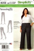 Simplicity Sewing Pattern 8056 Amazing Fit Pants in Ladies Sizes 20W-28W