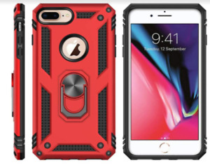 Shockproof Case For iPhone 8 Heavy Duty Protective Ring-Grip Kickstand Cover NEW