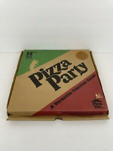 Pizza Party Pizza Hut Ideal no. 7743 A Versatile Fraction Game UNPUNCHED