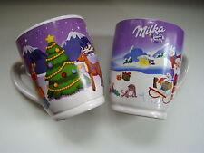 2 x Milka Weihnachtsbecher Nr. 15 + 16 Tasse Becher Weihnachtstasse Sammeltasse