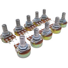 US Stock 10pcs 10K ohm Linear Taper Rotary Potentiometer Panel pot B10K 15mm