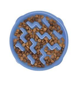 Dog Fun Feeder Slo Bowl, Medium, Blue,