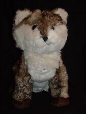 "Pottery Barn Teen Brown White Fox Coyote Plush MP3 Music Speakers 13"""
