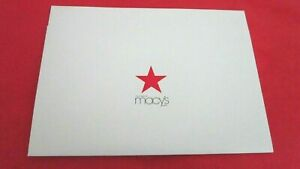 "R.H.Macys, ICONIC WHITE w/RED Star Large Gift Box,15""x 9""x 2"",1 Pc. Box w/TISSUE"