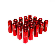20PCS M14X1.5 60MM EXTENDED FORGED ALUMINUM TUNER RACING LUG NUT RED