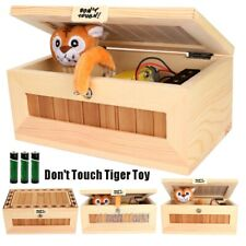 Useless Box Leave Me Alone Box Wooden Machine Don't Touch Tiger Toy Funny Gift