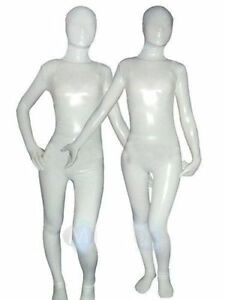 White metallic Lycra Zentai spandex Unisex catsuit S-XXL---Wholesale Price