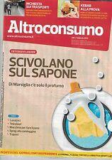 2015 02 - ALTROCONSUMO+TEST SALUTE - 02 2015 - N.289 - SCIVOLANO SUL SAPONE