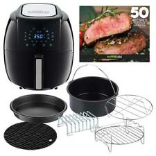 GoWISE USA 5.8 Qt 8-in-1 Air Fryer XL 6-PC Accessories, Timer, Black #GWAC22003