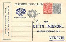 """A042) REGNO INTERO PUBBLICITARIO 15c """"COMUNICATE"""" REPIQUAGE DITTA MIGNON VENEZIA"""