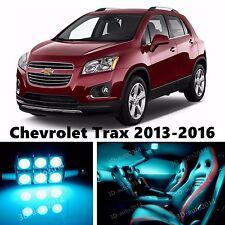 13pcs LED ICE Blue Light Interior Package Kit for Chevrolet Trax 2013-2016