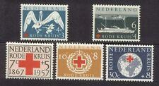 NVPH 695-699: Rode Kruis 1957 postfris (MNH)