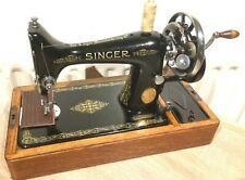 Schöne Vintage Singer 99K Hand Kurbel Nähmaschine für Leder