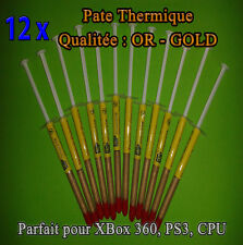 12 x Pate Thermique OR - GOLD CPU INTEL, AMD, CPU , GPU , PS3 , XBOX 360