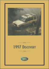 1997 Land Rover Discovery Owners Manual User Guide Reference Operator Book