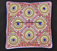 """Indian Suzani Embroidered 16"""" Cushion Cover Throw Cotton Pillow Cases Cover Sham"""