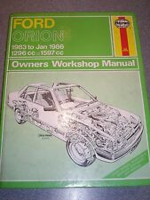 Haynes Manual 1009 Ford Orion Mk 3, 1983 to 1986 FWD Petrol