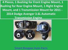 4 Motor Mounts for 2011 - 2014 Dodge Avenger 3.6L Automatic Transmission Engine
