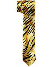 Tiger Prints  Neck Ties For Men & Adults - Slim Style  (NTiePr4  ^*)