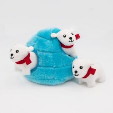 Zippy Paws Burrow Interactive Dog Toy - Igloo with 3 Squeaky Polar Bears