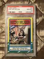 1986 Topps Football #7 Walter Payton HOF PSA 10 Gem Mint