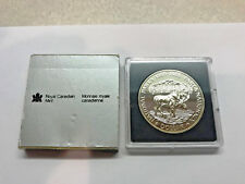 1985 Canada National Parks Dollar Moose .500 Silver #16087