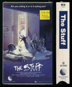 New World Betamax NOT VHS The Stuff 1985 Larry Cohen Horror Sci Fi Conspiracy