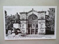 Ansichtskarte Karlsruhe Baden Festhalle Bismarck Denkmal