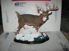"Vintage Danbury Mint White Tail Buck Sculpture "" Monster Buck"" By Nick Bibby"