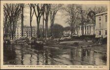 Montpelier VT 1927 Flood Damage VINTAGE EXC COND Postcard #25