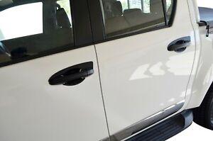 Black Door Handle Bowl Insert Scratch Cover for Toyota Fortuner 2015-21