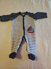 Boys Little Me 3 Months Sailboat Anchor One Piece Outfit