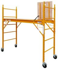 6 Foot Multi Purpose Rolling Scaffolding with Hatch, 1000-LB Capacity