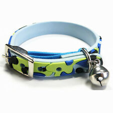 Blue Camo Cat Kitten Waterproof Safety Collars - 22cm