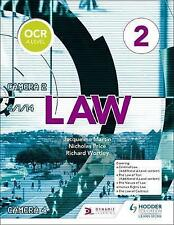 OCR A Level Law: Book 2 by Nicholas Price, Richard Wortley, Jacqueline Martin (Paperback, 2017)