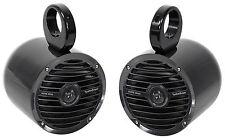 """Pair Rockford Fosgate RM0652B 6.5"""" 100 Watt Marine Boat Wakeboard Tower Speakers"""