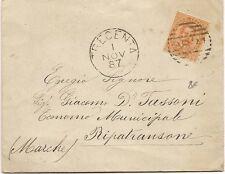 P5255   Rovigo,TRECENTA,   annullo numerale a sbarre 1887