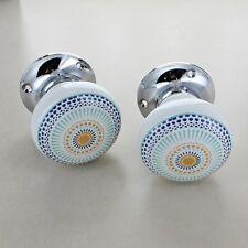 Énergie Positive Céramique Bouton de Porte Mortaise Set Porcelaine Anse