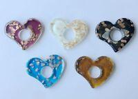 new 100% Handmade Hollow big heart Lampwork Glass Murano colors Pendant Necklace