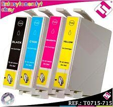 PACK 4 INCHIOSTRI T0711 T0712 T0713 T0714 T0715 COMPATIBILE STAMPANTE ICT