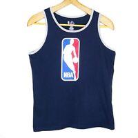 Majestic NBA Kids Unisex Singlet Size Large Navy Blue