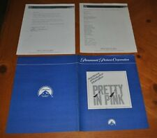 PRETTY IN PINK HANDBOOK OF PRODUCTION INFORMATION PARAMOUNT ONLY 1 COPY ON E-BAY